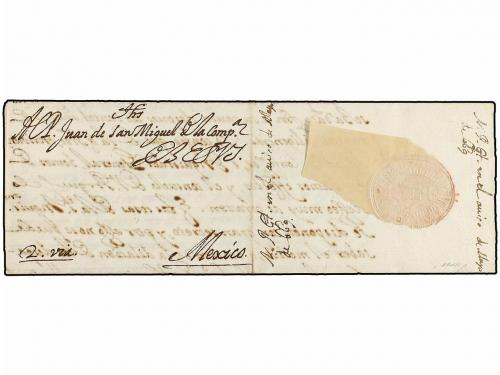 ✉ MEXICO. 1668. ROME to MEXICO. Letter sent to the Jesuit Ju