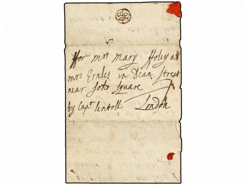 ✉ BARBADOS. (1700-1701 ca.). Two entire letters with text da