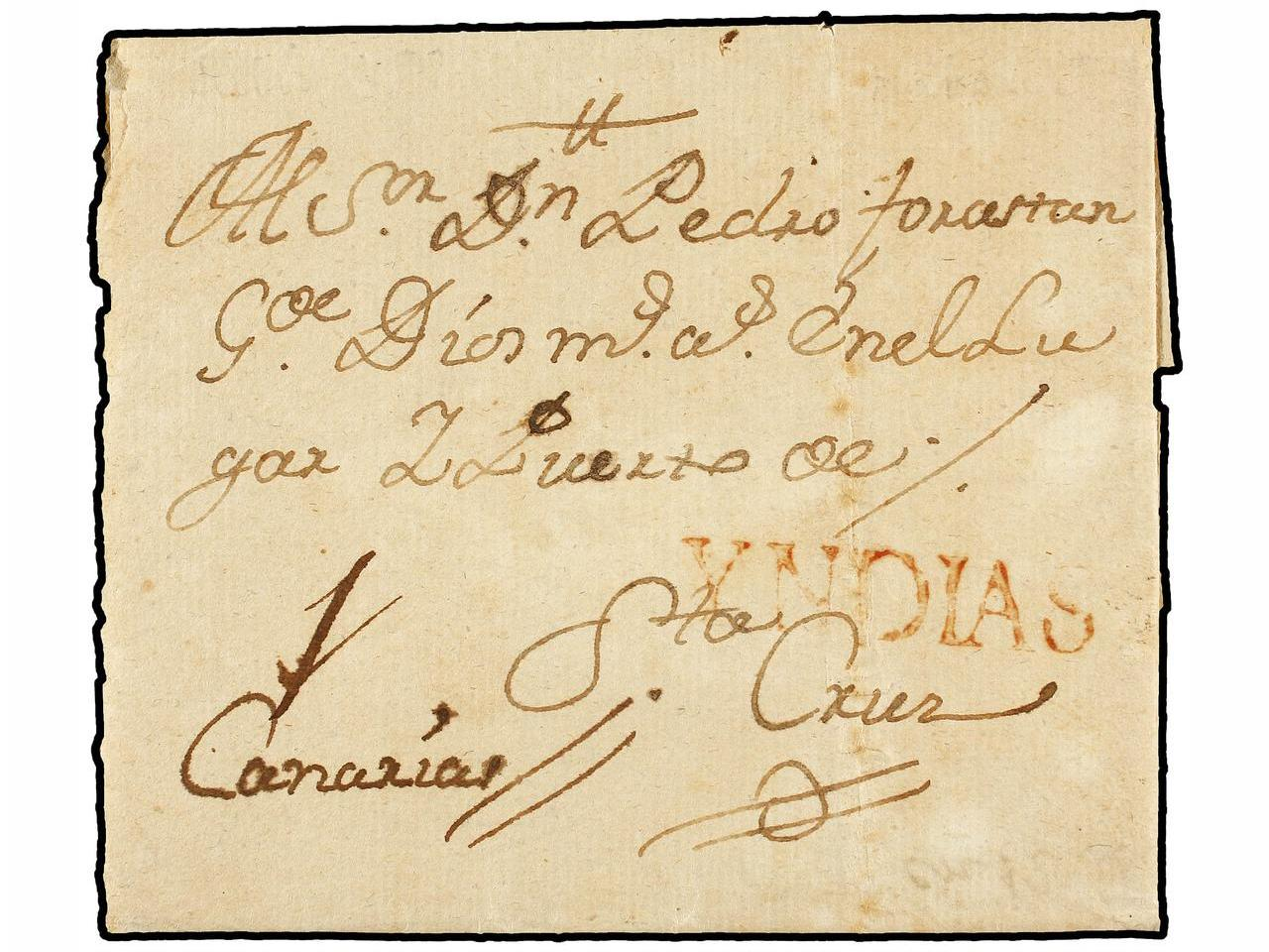 ✉ ESPAÑA. 1769 (July 18). Entire letter from HAVANA to SANTA