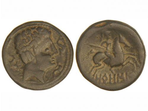 MONEDAS HISPÁNICAS. As. 120-20 a.C. OROSIS (Zona MEDIA DEL E