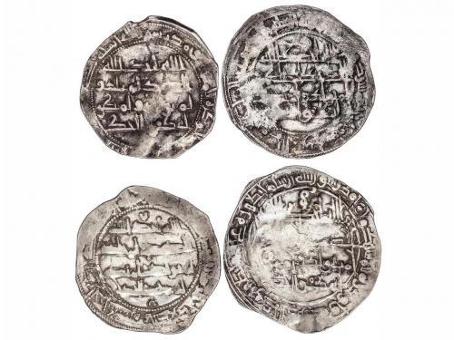 EMIRATO. Lote 4 monedas Dirham. 240H (2), 254H y 260H. MUHAM