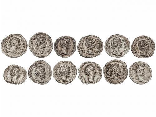 IMPERIO ROMANO. Lote 12 monedas Denario. ANTONINO PÍO, FAUST