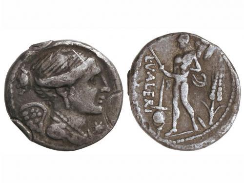 REPÚBLICA ROMANA. Denario. 108-107 a.C. VALERIA-11. L. Valer