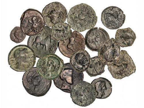 MONEDAS HISPÁNICAS. Lote 19 monedas Semis. CASTULO (12), OBU