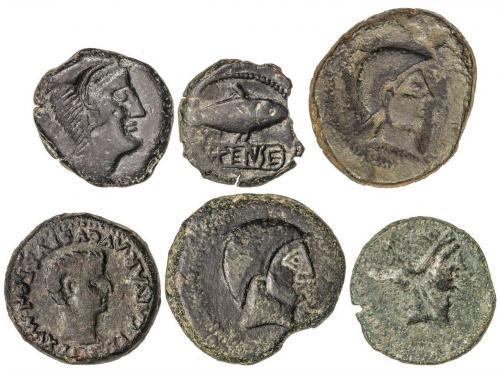 MONEDAS HISPÁNICAS. Lote 6 monedas Semis y As (5). CARMO (3)