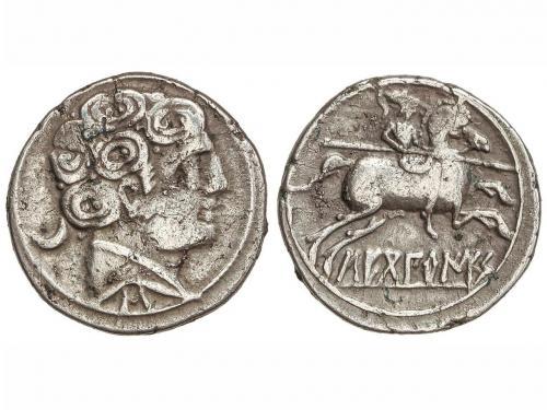 MONEDAS HISPÁNICAS. Denario. 120-30 a.C. SECOBIRICES (SAELIC