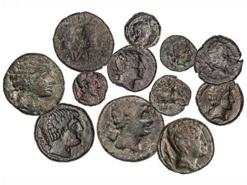 MONEDAS HISPÁNICAS. Lote 12 monedas Sextante, Cuadrante (3),