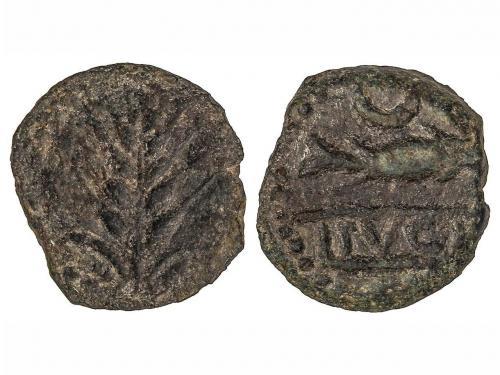 MONEDAS HISPÁNICAS. Cuadrante. 150-50 a.C. ITUCI (TEJADA LA