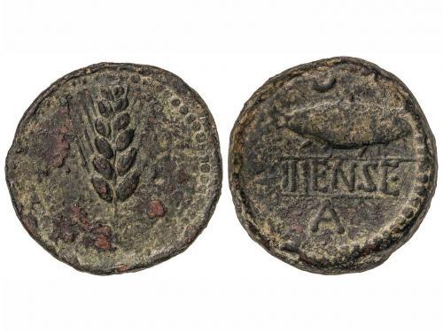 MONEDAS HISPÁNICAS. As. 120-20 a.C. ILIPENSE (ALCALÁ DEL RÍO