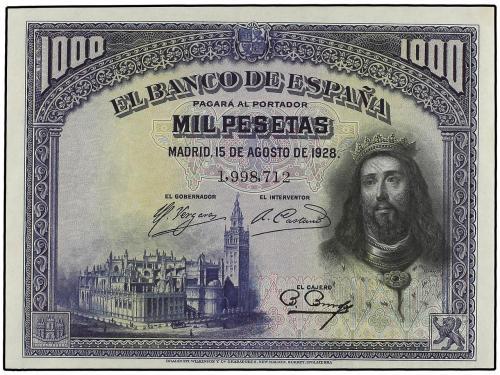 GUERRA CIVIL, ZONA REPUBLICANA. 1.000 Pesetas. 15 Agosto 192