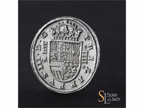 FELIPE III. 4 Reales. 1614. SEGOVIA. AR. 13,37 grs. Acueduct