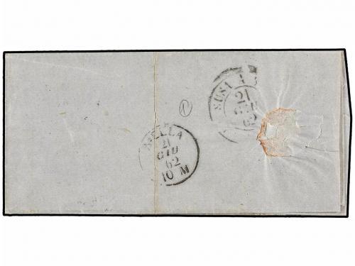✉ ARGENTINA. 1862. BUENOS AIRES a BIELLA (Italia). 1 peso az