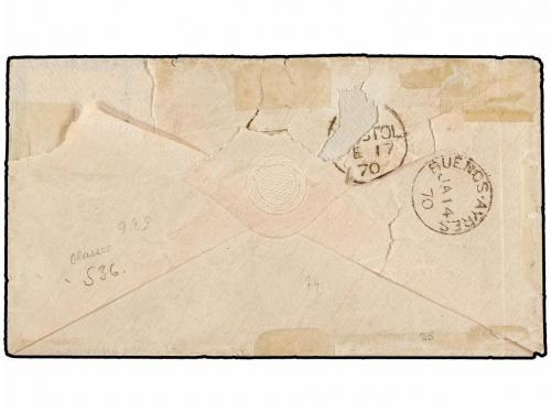 ✉ ARGENTINA. 1870. BUENOS AIRES a BRISTOL (Gran Bretaña). So