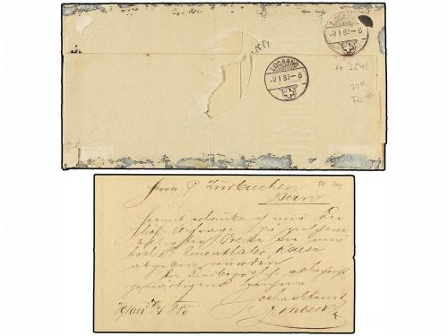 ✉ AUSTRIA. 1883-85. Cover and postal stationary to SWITZERLA