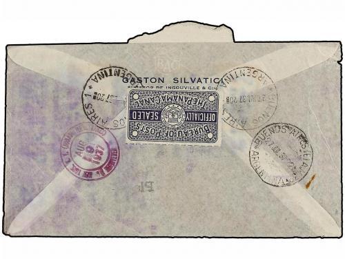 ✉ ARGENTINA. 1937. BUENOS AIRES a NEW YORK. CORREO ACCIDENTA