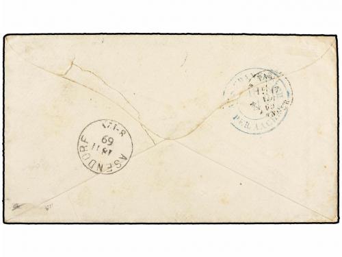 ARGENTINA. 1869. BUENOS AIRES a HANNOVER (Alemania). Fechado