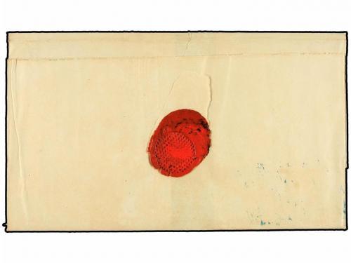 ✉ ARGENTINA. 1864. CONCORDIA a BUENOS AYRES. 15 cts. azul, m