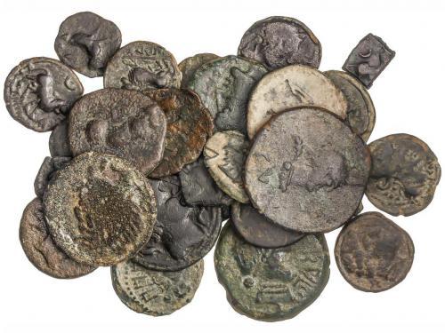 MONEDAS HISPÁNICAS. Lote 37 monedas 1/8 Calco, Cuadrante, Se