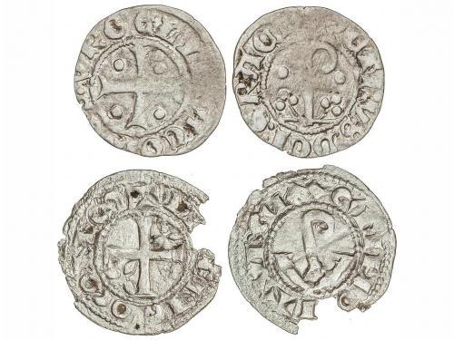 CATALUNYA-ARAGÓN. Lote 2 monedas Diner. ERMENGOL VII y PERE.