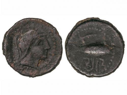 MONEDAS HISPÁNICAS. Semis. 200-20 a.C. SEXI (ALMUÑÉCAR, Gran