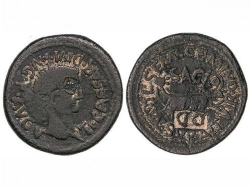 MONEDAS HISPÁNICAS. As. 14-36 d.C. ÉPOCA DE TIBERIO. SAGUNTO