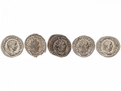 IMPERIO ROMANO. Lote 5 Antoninianos. GORDIANO III, TRAJANO D
