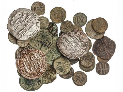 EMIRATO. Lote 40 monedas Felus (37) y Dirham (3). 199 y 222H