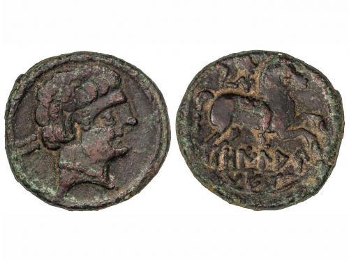 MONEDAS HISPÁNICAS. As. 120-20 a.C. OILAUNES (Zona NORTE DEL