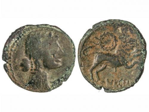 MONEDAS HISPÁNICAS. As. 120-45 a.C. NERONKEN (NARBONA, Franc