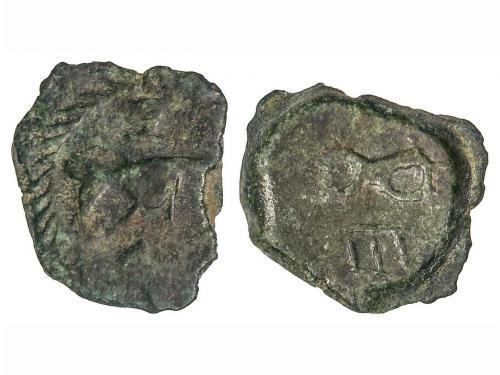 MONEDAS HISPÁNICAS. Sextante. Siglo I a.C. RUSCINO (Galia Na