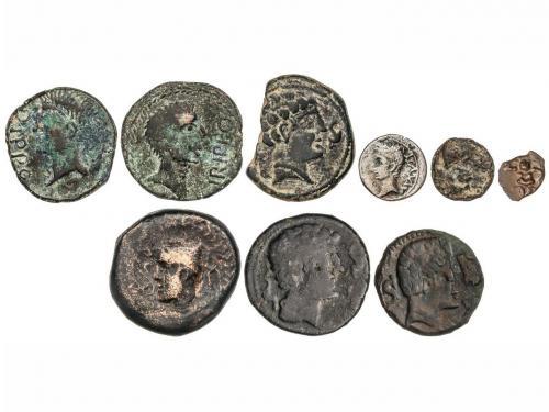 MONEDAS HISPÁNICAS. Lote 9 monedas 1/8 Calco, Sextante (2),