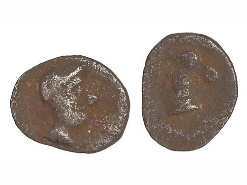 MONEDAS HISPÁNICAS. Hemióbolo. 300-200 a.C. ARSE (SAGUNTO).