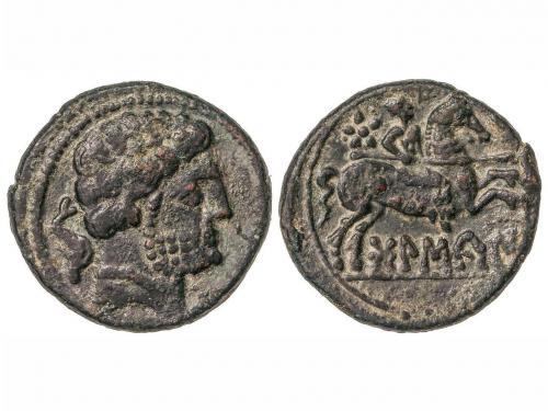 MONEDAS HISPÁNICAS. As. 180-20 a.C. BOLSCAN (HUESCA). Cabeza