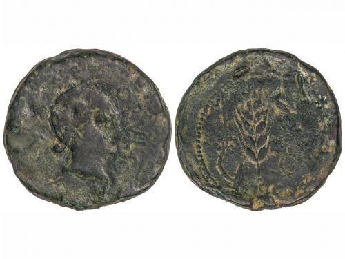 MONEDAS HISPÁNICAS. Dupondio. 220-20 a.C. OBULCO (PORCUNA, J