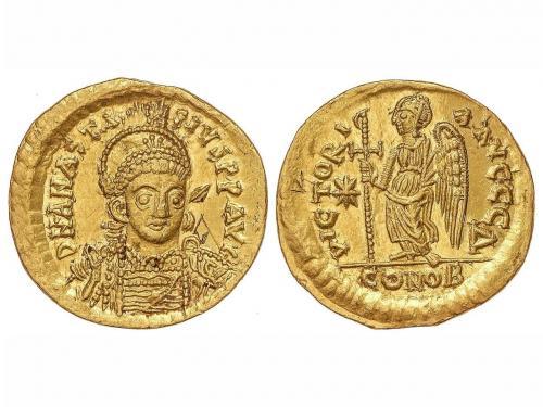 IMPERIO ROMANO. Sólido. Acuñada el 491-518 d.C. ANASTASIO I.