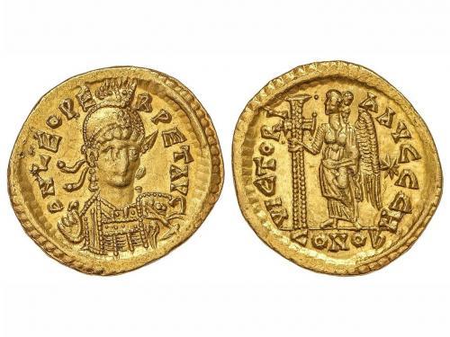 IMPERIO ROMANO. Sólido. Acuñada el 457-474 d.C. LEÓN I. CONS