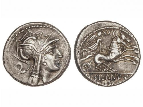 REPÚBLICA ROMANA. Denario. 91 a.C. JUNIA-16. D. Junius Silan