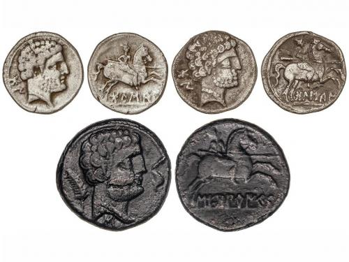 MONEDAS HISPÁNICAS. Lote 3 monedas As y Denario (2). BOLSCAN