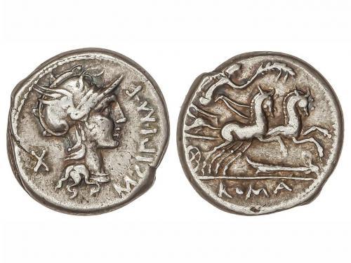 REPÚBLICA ROMANA. Denario. 115-114 a.C. CIPIA-1. M. Cipius M
