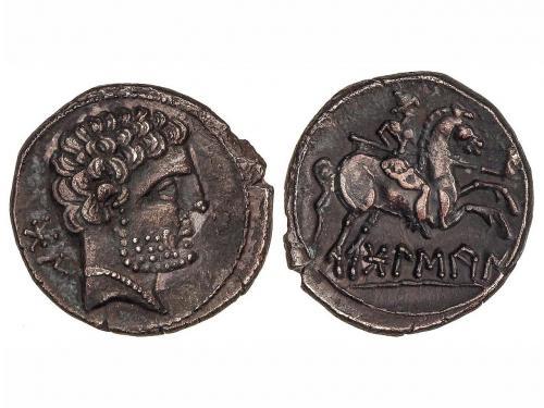 MONEDAS HISPÁNICAS. Denario. 180-20 a.C. BOLSCAN (HUESCA). C