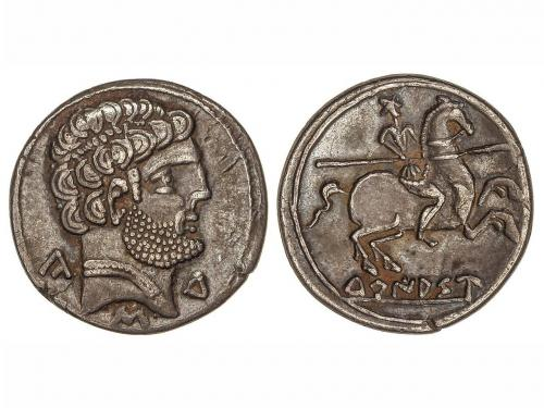 MONEDAS HISPÁNICAS. Denario. 120-20 a.C. TURIASO (TARAZONA,