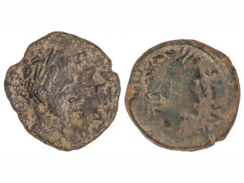 MONEDAS HISPÁNICAS. Lote 2 monedas Semis. ILICI. A EXAMINAR.