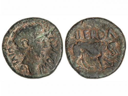 MONEDAS HISPÁNICAS. As. 27 a.C.-14 d.C. ÉPOCA DE AUGUSTO. IL