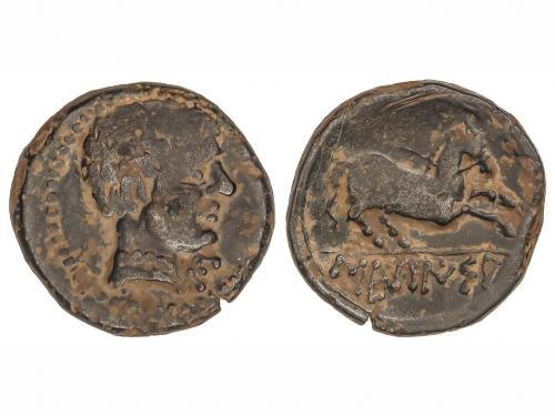 MONEDAS HISPÁNICAS. Semis. 120-20 a.C. SECAISA (BELMONTE, Za