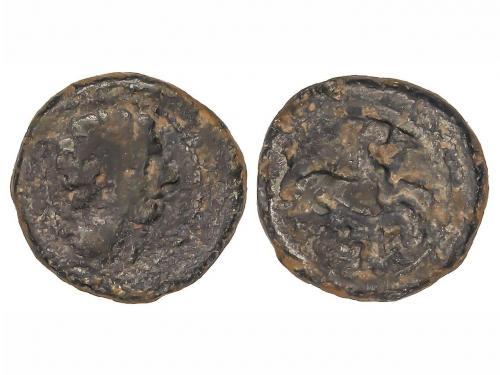 MONEDAS HISPÁNICAS. Cuadrante. 120-20 a.C. CESE (TARRAGONA).