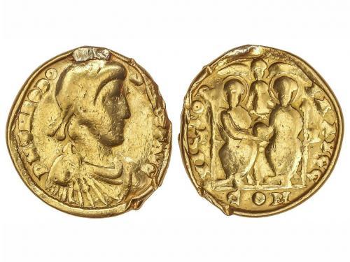 IMPERIO ROMANO. Sólido. Acuñada el 379-383 d.C. TEODOSIO. CO