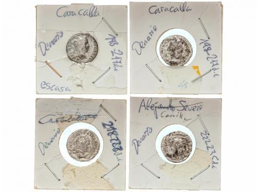 IMPERIO ROMANO. Lote 12 monedas Denario. ALEJANDRO SEVERO, C