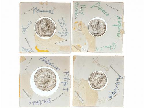 IMPERIO ROMANO. Lote 16 monedas Antoniniano, Denario, Silicu