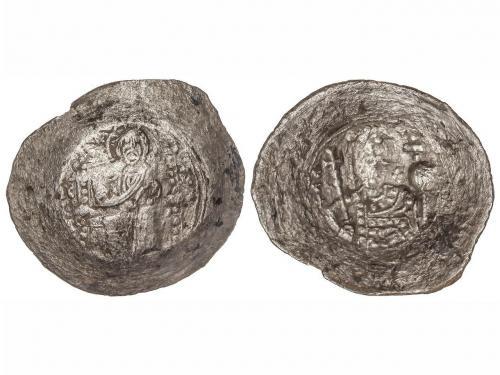 MONEDAS BIZANTINAS. Billon Trachy. (1081-1118 d.C.). ALEJO I