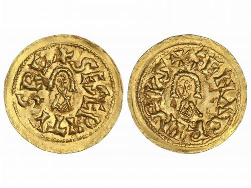 MONEDAS VISIGODAS. Triente. SISEBUTO (612-621 d.C.). SENABRI